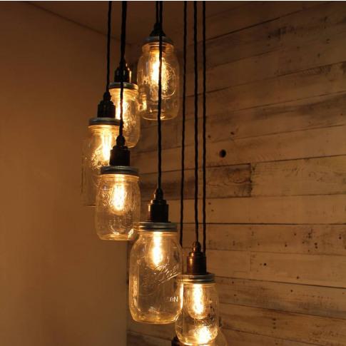 Lydd Handmade Eight Drop Spiral Pendant Light