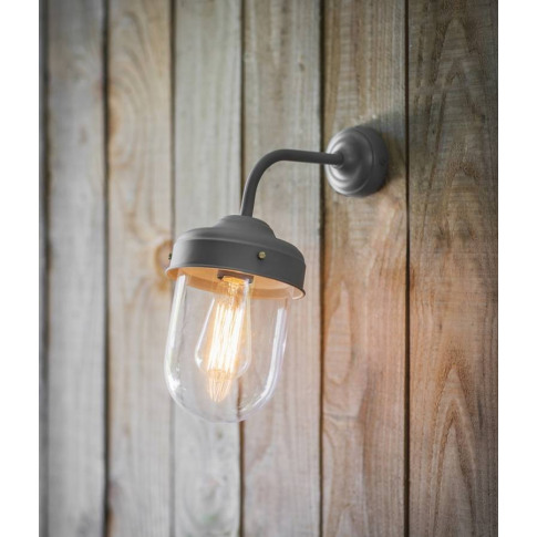 Large Barn Wall Light In Charcoal Grey