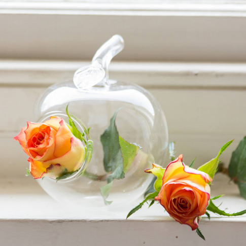 Apple Glass Vase