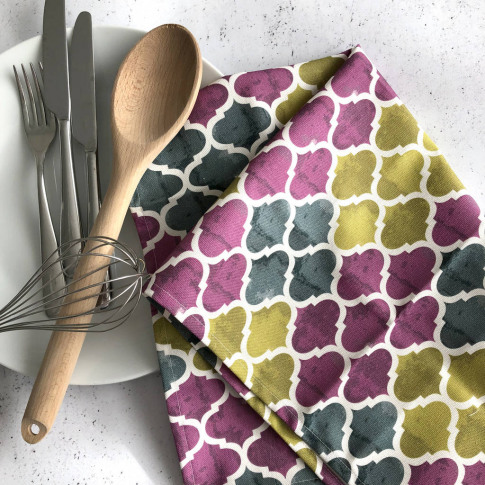 Catalina Tea Towel, Geometric Kitchen Towel