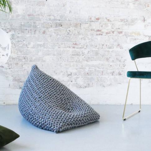 Super Chunky Knit Wedge Bean Bag