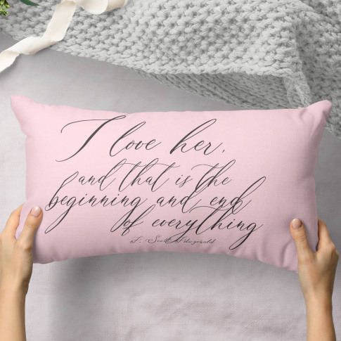 Personalised Valentines Gift Cushion 'Beginning'