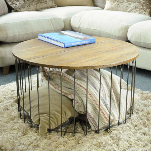 Birdcage Round Storage Coffee Table