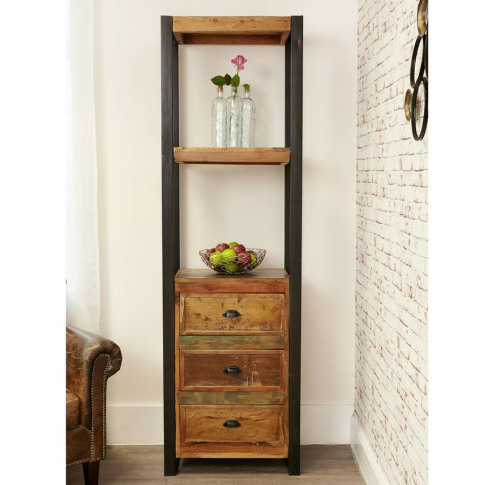 Shoreditch Slim Bookcase With Drawers