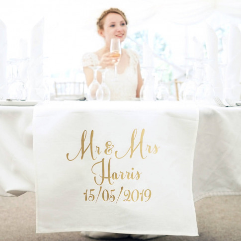 Personalised Classic Wedding Table Runner