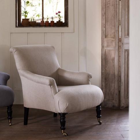 Finley Armchair, Natural Linen