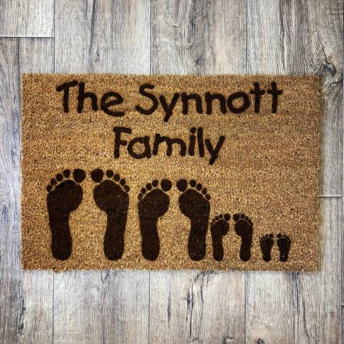 Personalised Footprints Doormat