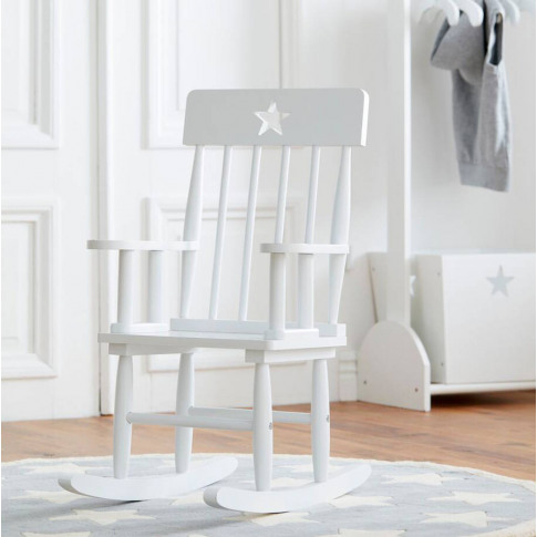 Star White Kids Rocking Chair