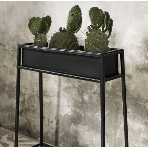 Nordal Black Iron Planter On Stand