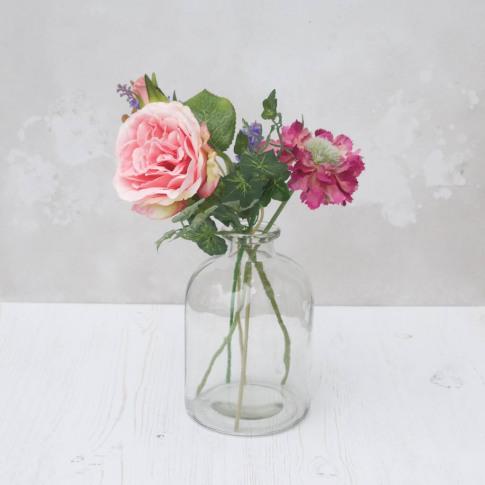 Faux Bouquet In Bell Vase