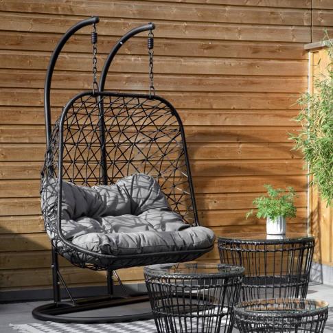 Double Indoor / Outdoor Macrame Hanging Chair