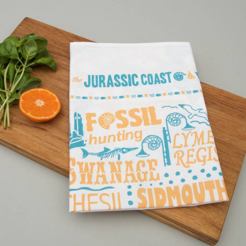 Busy Being On The Jurassic Coast Tea Towel