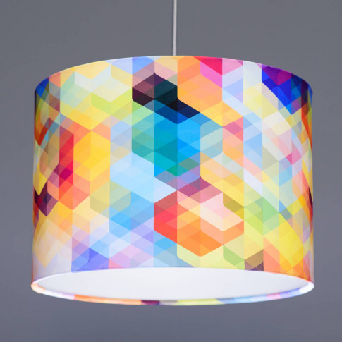 Simon C Page Cuben Curved Geometric Lampshade