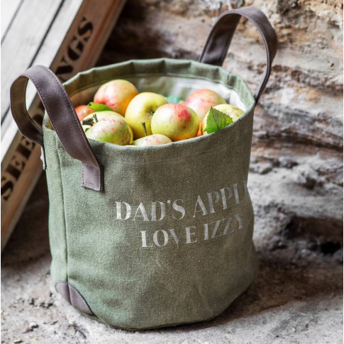 Personalised Apple Collecting Sack /Garden Storage Sack