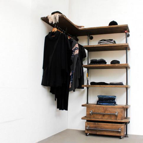 Noah Dressing Room Shelving Hanging Unit Wardrobe