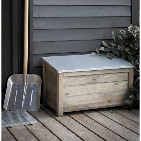 Galvanised Garden Storage Box