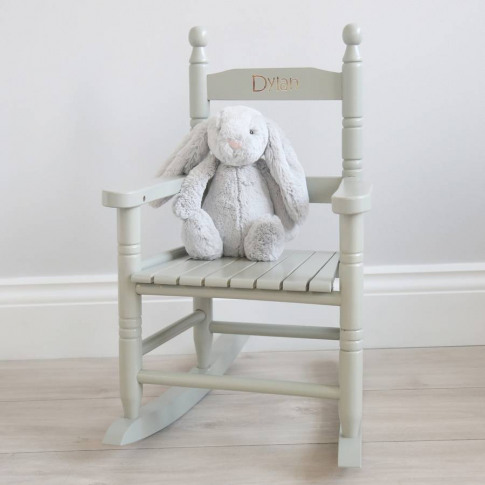Grey Personalised Rocking Chair