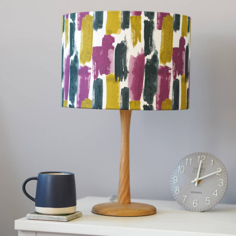Lucia Lampshade, Jewel Tones Watercolours