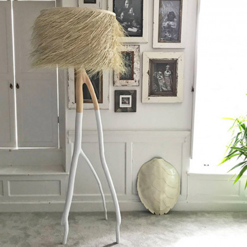 Palm Tall Branched Floor Lamp White