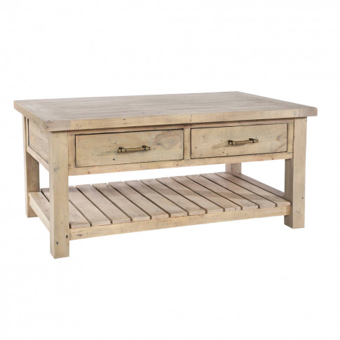 Drift Two Drawer Shelved Coffee Table