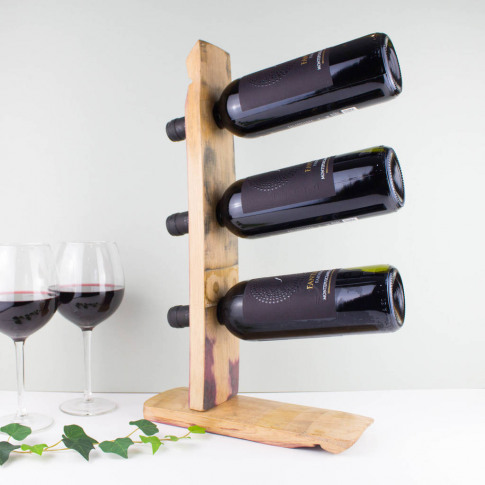 Whisky Barrel Stave Wine Rack