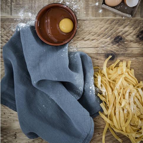 Parisian Blue Linen Tea Towel