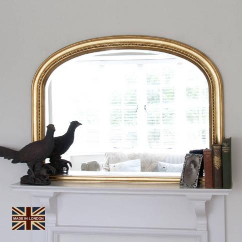 Diana Gold Overmantel Mirror