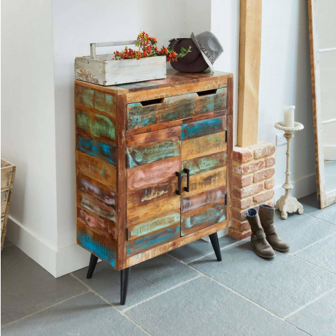 Dunes Boat Wood Shoe Storage Cupboard