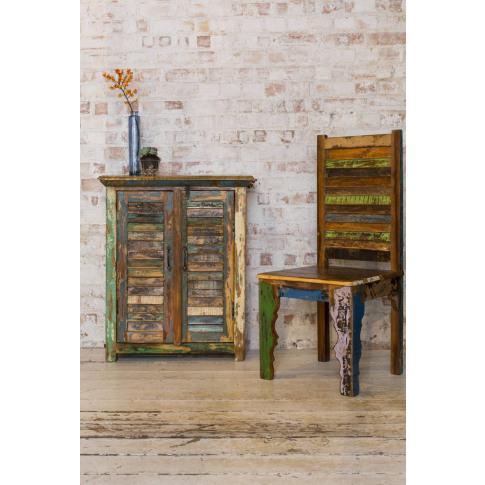 Reclaimed Wood Two Door Shutter Cabinet