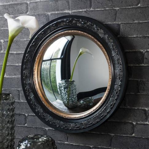 Black And Gold Porthole Mirror