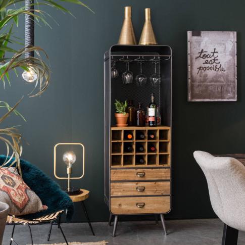 Dutchbone Vintage French Style Wine Cabinet