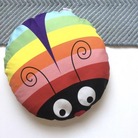 Rainbow Bug Floor Cushion