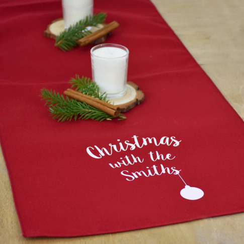 'Christmas With The…' Personalised Large Tabl...
