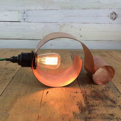 Lynton Rolled Copper Table Desk Lamp