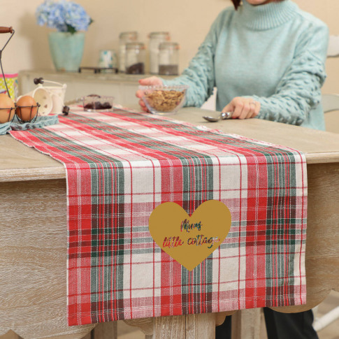 Country Kitchen Personalised Plaid Table Runner