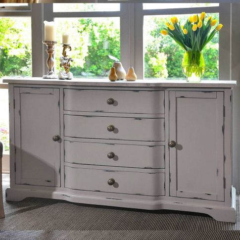 Warwickshire Large Grey Sideboard Grey Or Ivory
