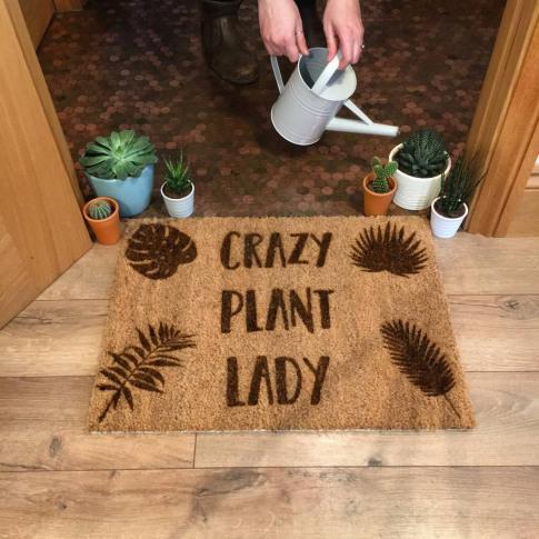 Crazy Plant Lady Doormat