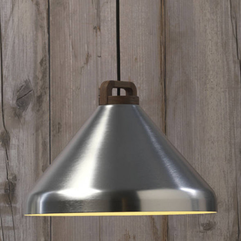 Handle Pendant Lamp, Wide, Silver
