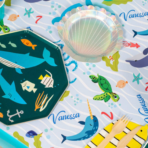 Personalised Under The Sea Table Runner