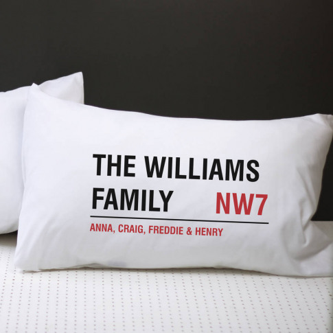 Personalised Street Sign Pillow Case