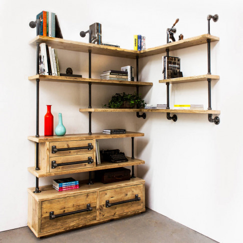 Earl Multi Media And Corner Shelving With Storage Unit