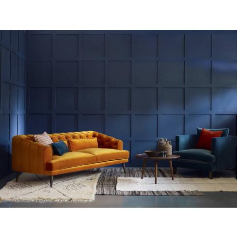 Earl Grey Modern Chesterfield Sofa
