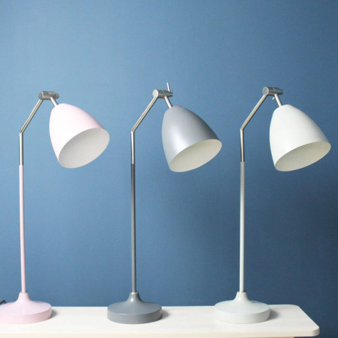 Tall Coloured Metal Desk Lamp