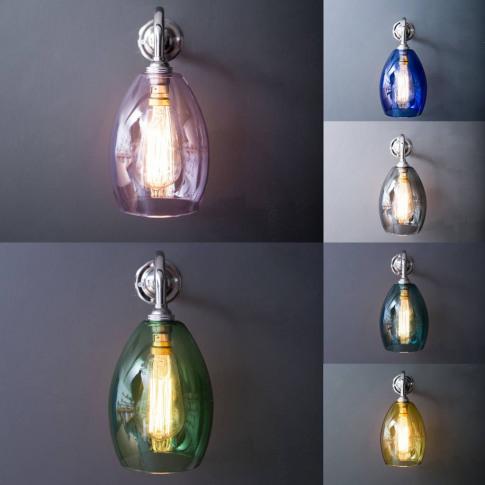 Coloured Glass Bertie Wall Light