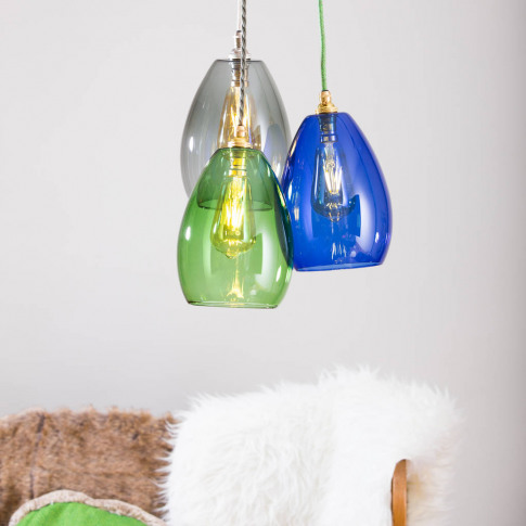 Coloured Glass Cluster Bertie Mid Pendant Light