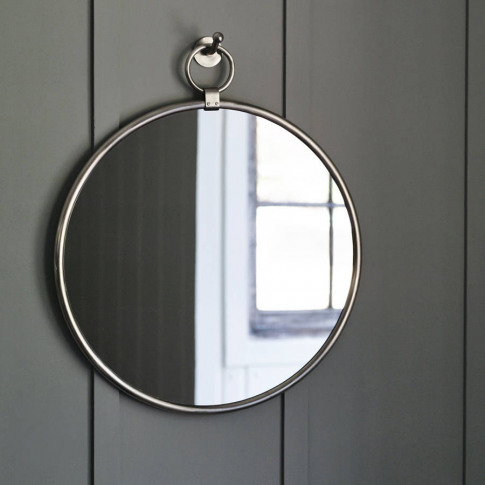 Indar Hanging Mirror And Hook, Matt Nickel