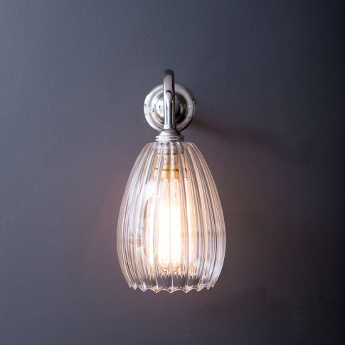 Clear Ribbed Glass Molly Wall Light