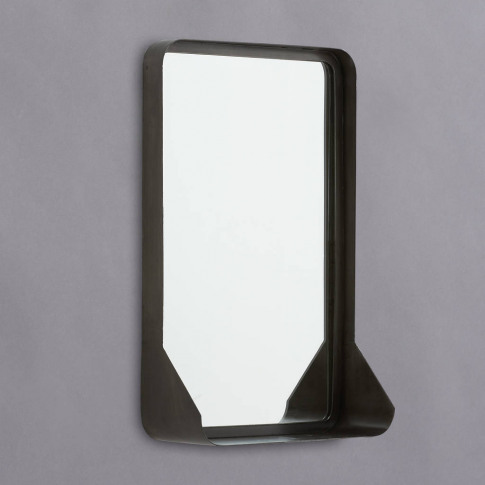 Theodore Antique Zinc Mirror With Shelf