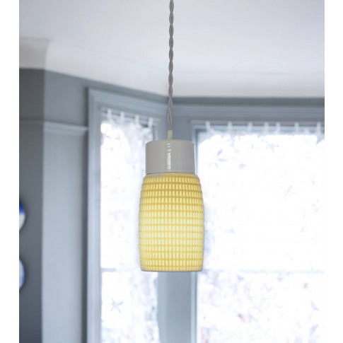 Waffle Pendant Light