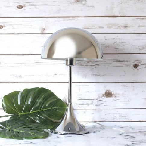 Mid Century Chrome Mushroom Table Lamp